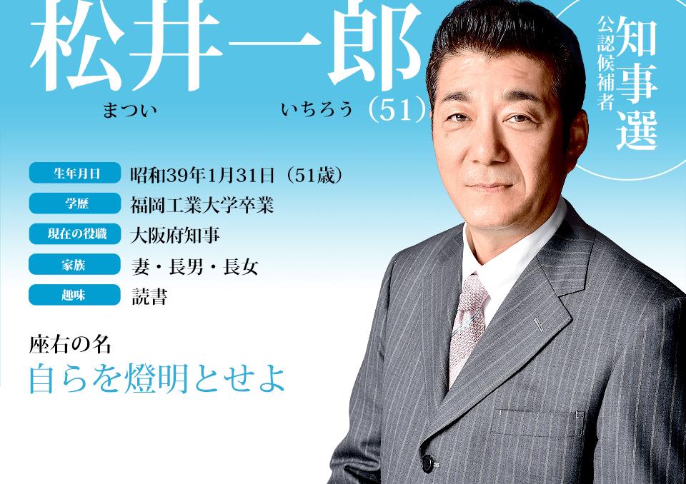 松井一郎プロフィール|2015秋の陣|大阪維新の会